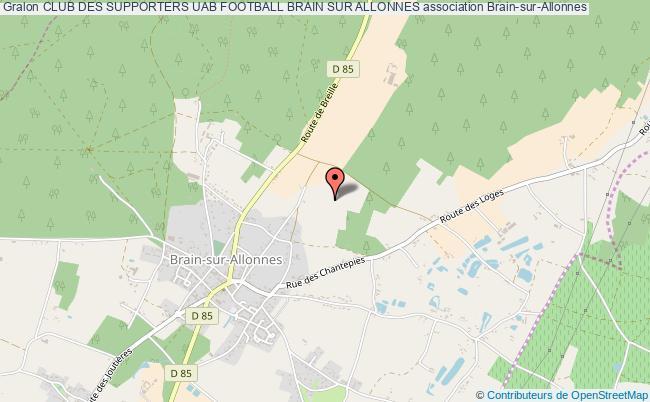 plan association Club Des Supporters Uab Football Brain Sur Allonnes
