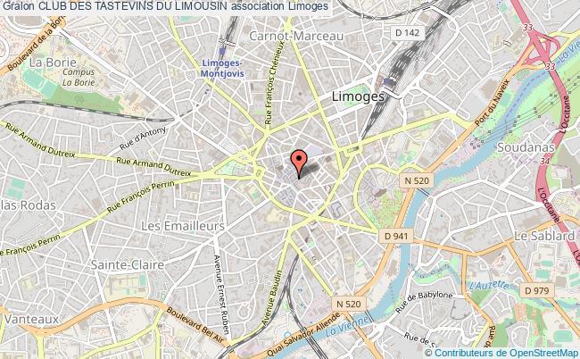 plan association Club Des Tastevins Du Limousin