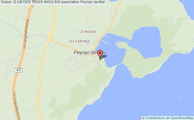 plan association Club Des Trois Moulins Peyriac-de-Mer