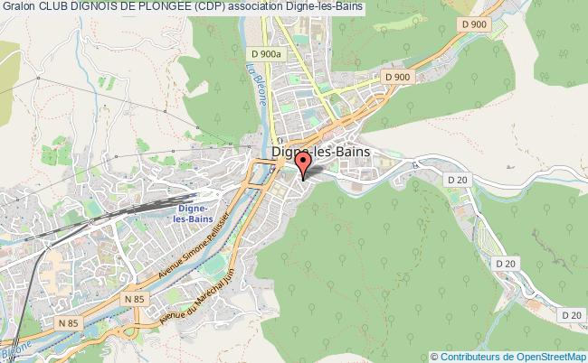 plan association Club Dignois De Plongee (cdp)