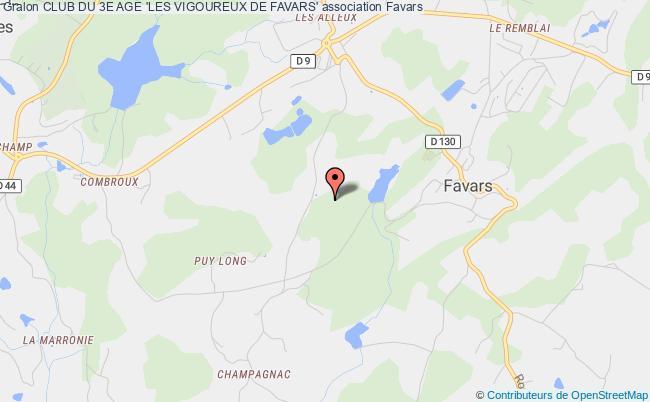 plan association Club Du 3e Age 'les Vigoureux De Favars'