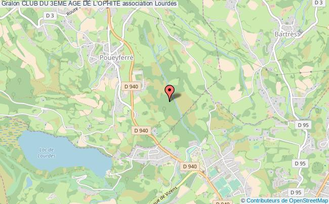 plan association Club Du 3eme Age De L'ophite Lourdes