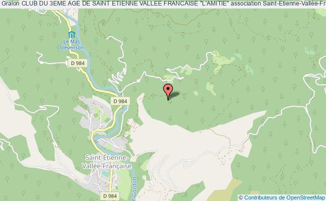 """plan association Club Du 3eme Age De Saint Etienne Vallee Francaise """"l'amitie"""""""