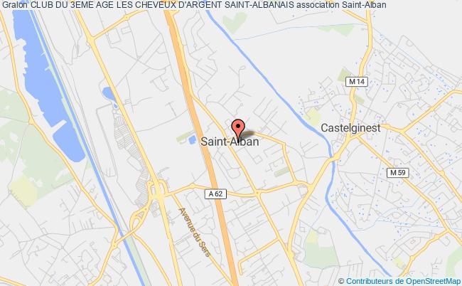 plan association Club Du 3eme Age Les Cheveux D'argent Saint-albanais Saint-Alban