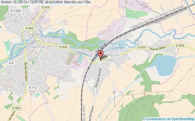 plan association Club Du Tertre Marcilly-sur-Tille
