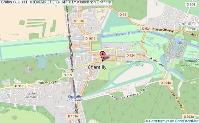 plan association Club Ferroviaire De Chantilly Chantilly
