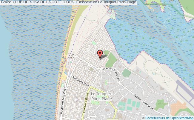 plan association Club Heroika De La Cote D Opale Le    Touquet-Paris-Plage