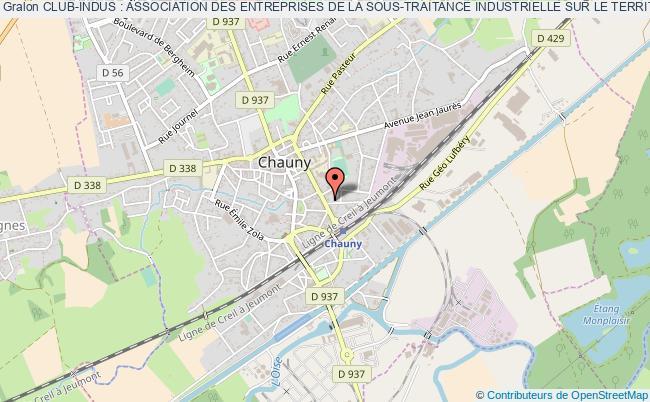 plan association Club-indus : Association Des Entreprises De La Sous-traitance Industrielle Sur Le Territoire Chauny - Tergnier - La FÈre