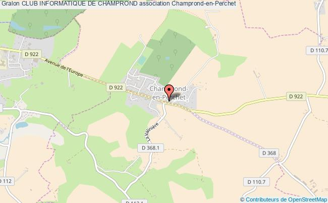 plan association Club Informatique De Champrond