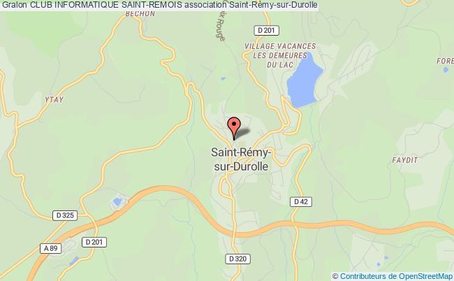 plan association Club Informatique Saint-remois Saint-Rémy-sur-Durolle