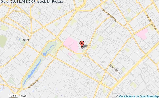 plan association Club L'age D'or Roubaix