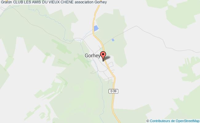 plan association Club Les Amis Du Vieux Chene Gorhey