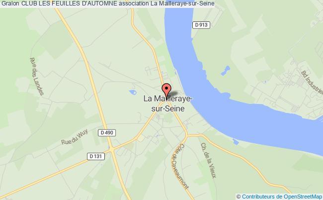 plan association Club Les Feuilles D'automne Arelaune-en-Seine