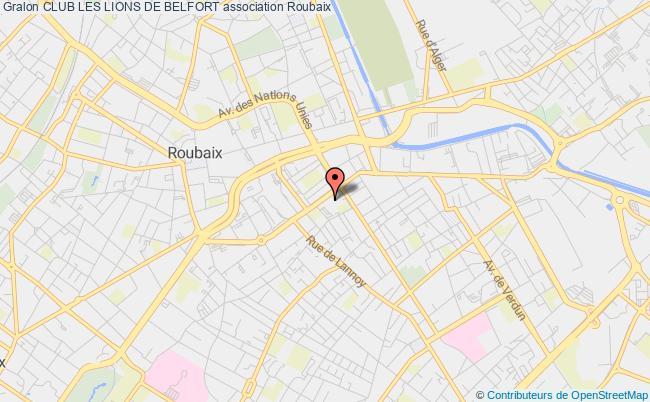 plan association Club Les Lions De Belfort Roubaix