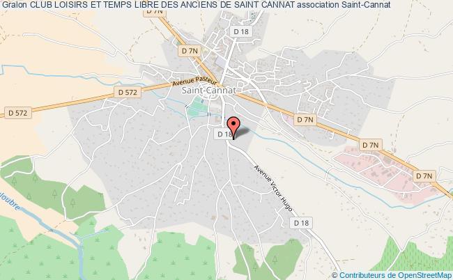 plan association Club Loisirs Et Temps Libre Des Anciens De Saint Cannat Saint-Cannat