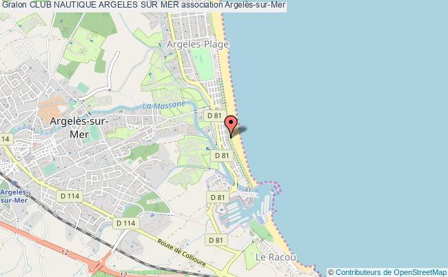 plan association Club Nautique Argeles Sur Mer