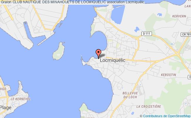 plan association Club Nautique Des Minahouets De Locmiquelic