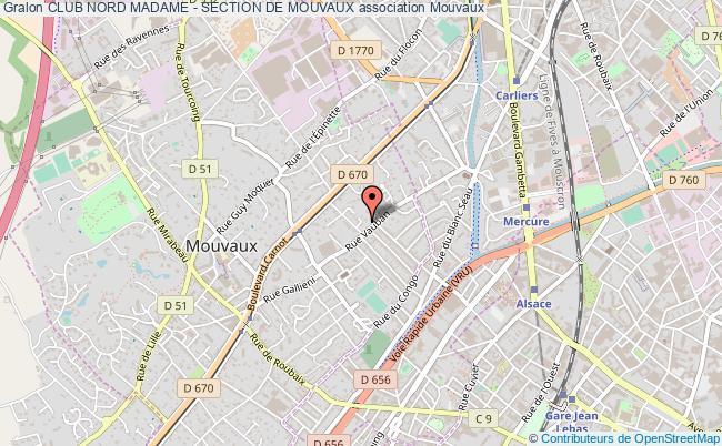 plan association Club Nord Madame - Section De Mouvaux