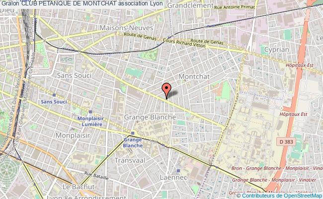 plan association Club Petanque De Montchat