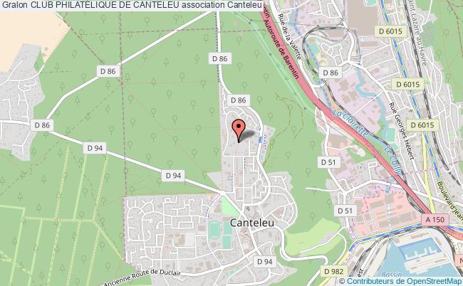 plan association Club PhilatÉlique De Canteleu Canteleu
