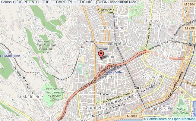 plan association Club Philatelique Et Cartophile De Nice (cpcn) Nice