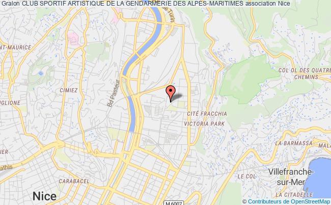 plan association Club Sportif Artistique De La Gendarmerie Des Alpes-maritimes Nice