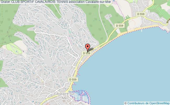 plan association Club Sportif Cavalairois Tennis