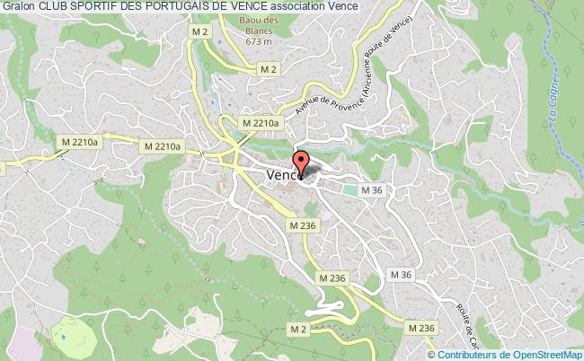 plan association Club Sportif Des Portugais De Vence