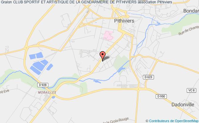 plan association Club Sportif Et Artistique De La Gendarmerie De Pithiviers