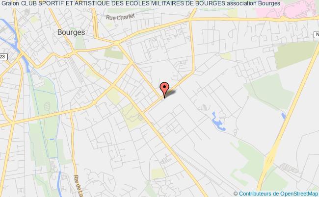 plan association Club Sportif Et Artistique Des Ecoles Militaires De Bourges Bourges