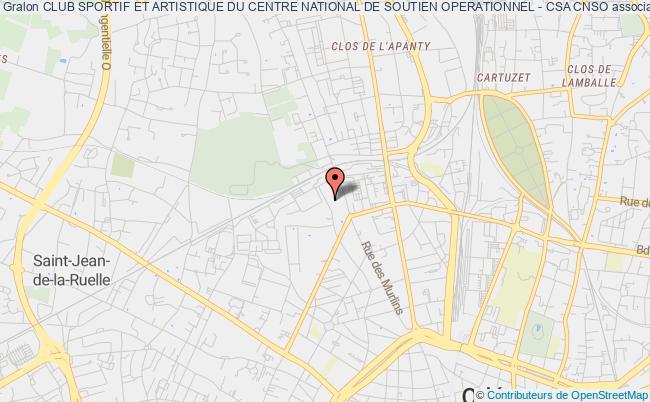 plan association Club Sportif Et Artistique Du Centre National De Soutien Operationnel - Csa Cnso