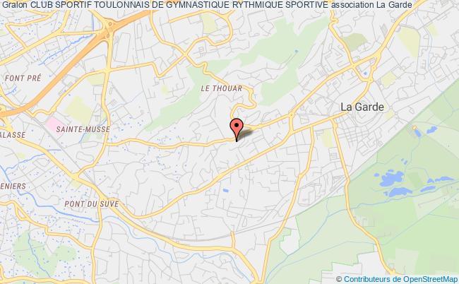 plan association Club Sportif Toulonnais De Gymnastique Rythmique Sportive