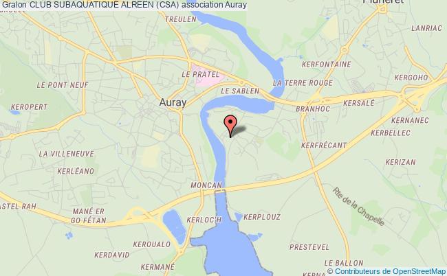 plan association Club Subaquatique Alreen (csa) Auray