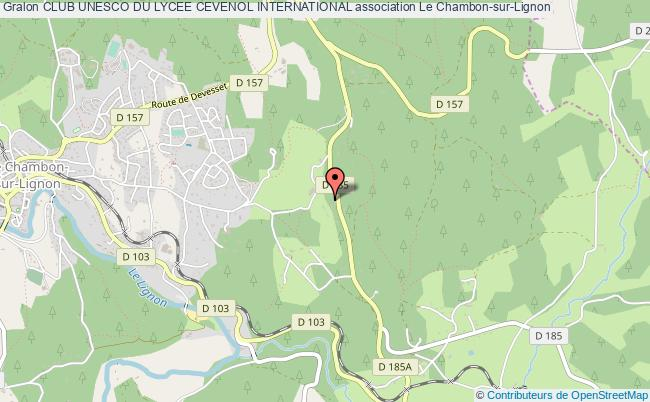 plan association Club Unesco Du Lycee Cevenol International