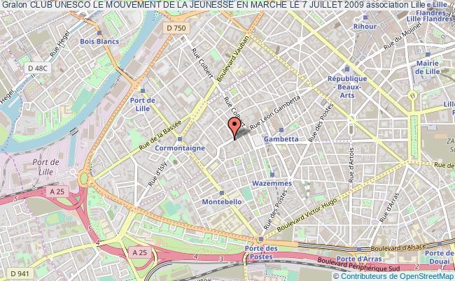 plan association Club Unesco Le Mouvement De La Jeunesse En Marche Le 7 Juillet 2009 Lille