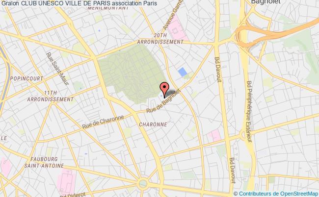 plan association Club Unesco Ville De Paris Paris