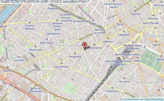 plan association Club Utilisateur Jade / Ocuco Paris 15e