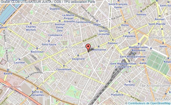 plan association Club Utilisateur Juxta / Ods / Tpu Paris 15e