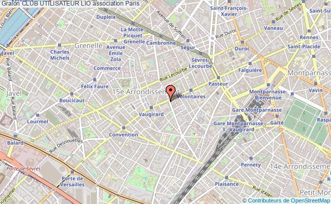 plan association Club Utilisateur Lio Paris