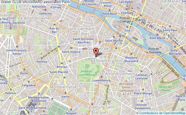 plan association Club Vaugirard Paris cedex 06