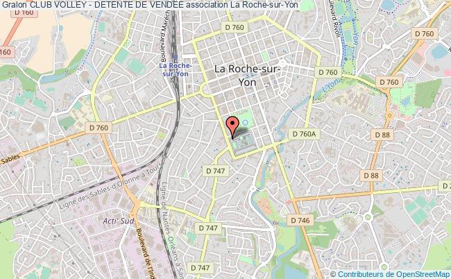 plan association Club Volley - Detente De Vendee La    Roche-sur-Yon