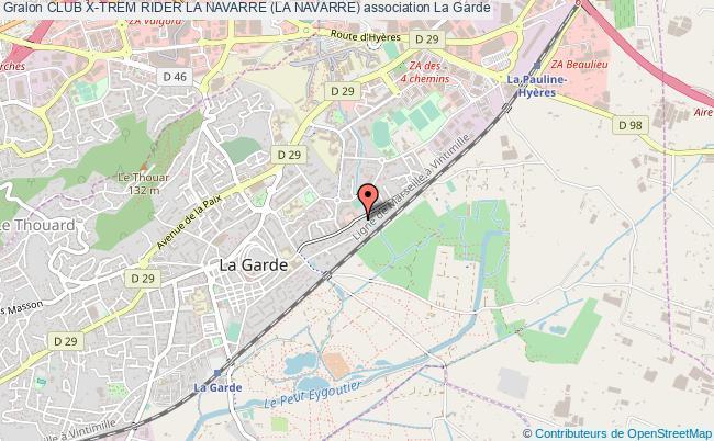 plan association Club X-trem Rider La Navarre (la Navarre)