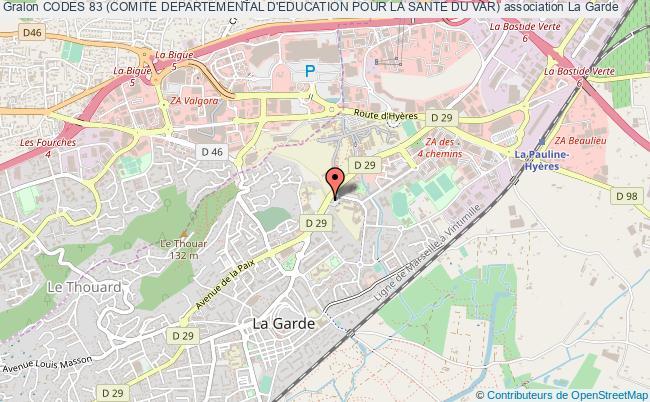 plan association Codes 83 (comite Departemental D'education Pour La Sante Du Var) La    Garde