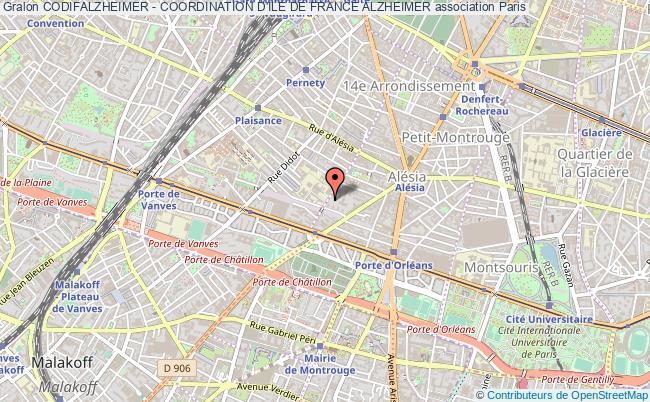 plan association Codifalzheimer - Coordination D'ile De France Alzheimer