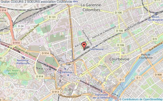 plan association Coeurs 2 Soeurs Courbevoie