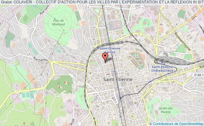 plan association Colaveri - Collectif D'action Pour Les Villes Par L'expÉrimentation Et La RÉflexion In Situ Saint-Étienne