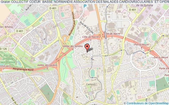 plan association Collectif Coeur  Basse Normandie Association Des Malades Cardiovasculaires  Et Operes Du Coeur De Basse Normandie