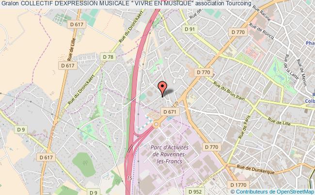 """plan association Collectif D'expression Musicale """" Vivre En Musique"""" Tourcoing"""