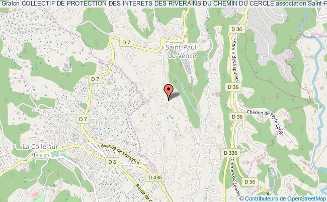 plan association Collectif De Protection Des Interets Des Riverains Du Chemin Du Cercle