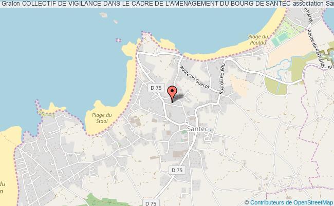plan association Collectif De Vigilance Dans Le Cadre De L'amenagement Du Bourg De Santec Santec